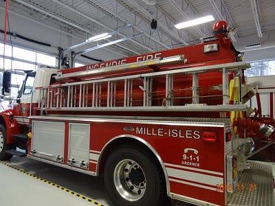 Remerciements au service de sécurité incendie de Mille-Isles.